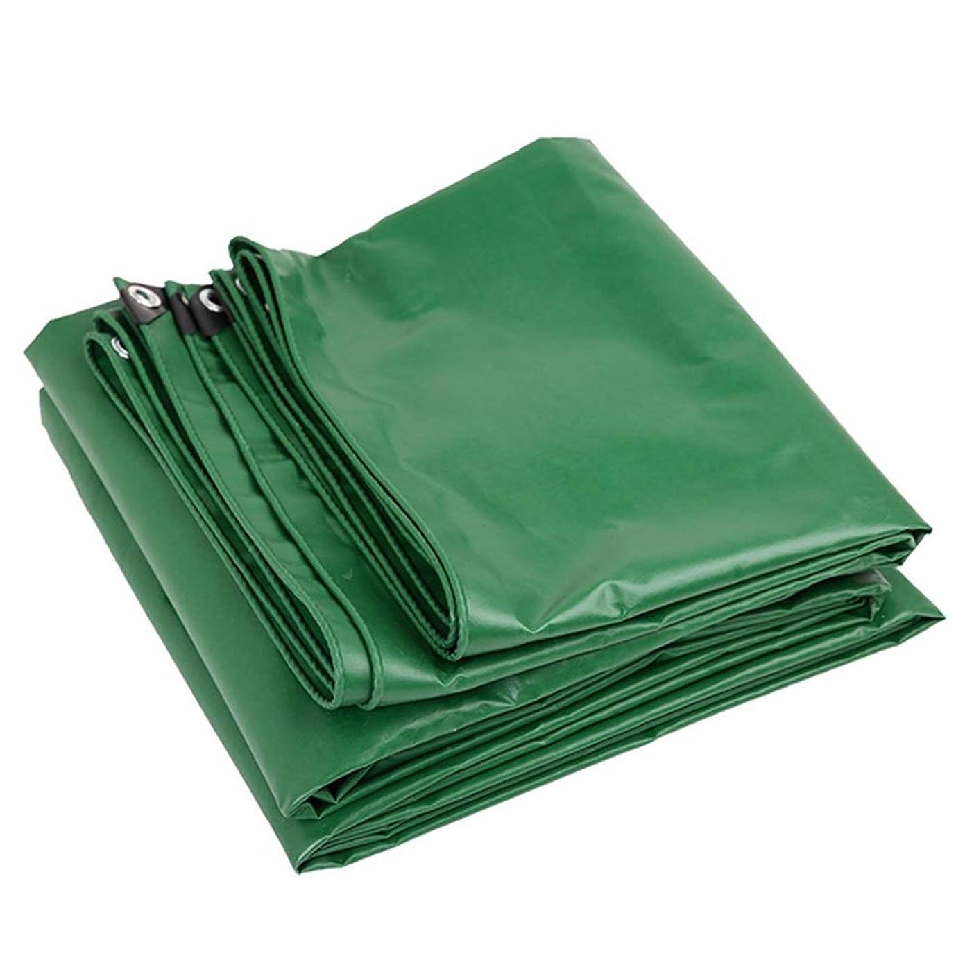 の面では解き明かす投資するLCAIHUA ターポリンタープPVC引き裂き防止ボタンホール庭園屋外の9サイズ (Color : Green, Size : 5X6M)