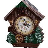 BOTEGRA Reloj De Cuco, Relojes De Cuco para Pared Reloj De Pared Reloj Despertador Vintage Reloj De Casa De árbol Resistente A La Decoloración Relojes De Pared Sala De Estar Decorativa para