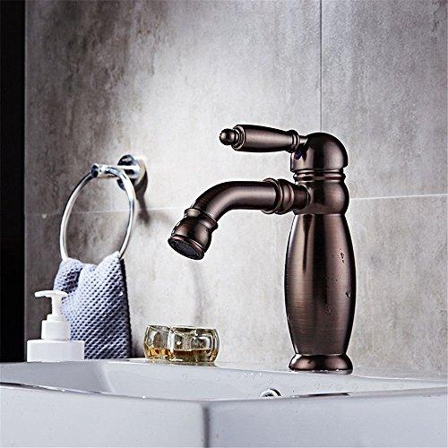 Grifo de cocina para lavabo o baño con ajuste en caliente y frío, grifo alto de cascada duradero, grifo monomando con grifo de apertura rápida monomando