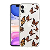 ZhuoFan Silicone Case Compatible with Cubot X20 Pro/X20 6.3inch, Stylish Pattern Designed for Cubot X20 / X20 Pro, Soft TPU Cases Full Protective, Ultra Thin, Anti-Scratch - Black Butterfly