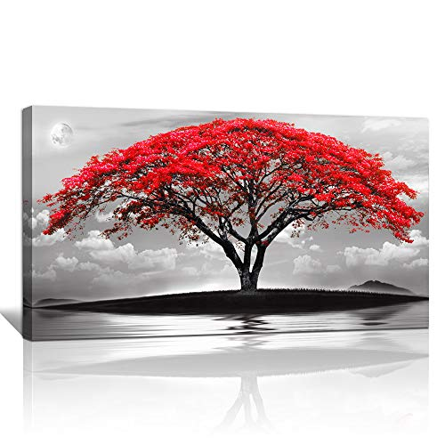 Red Wall Decor Colored Art