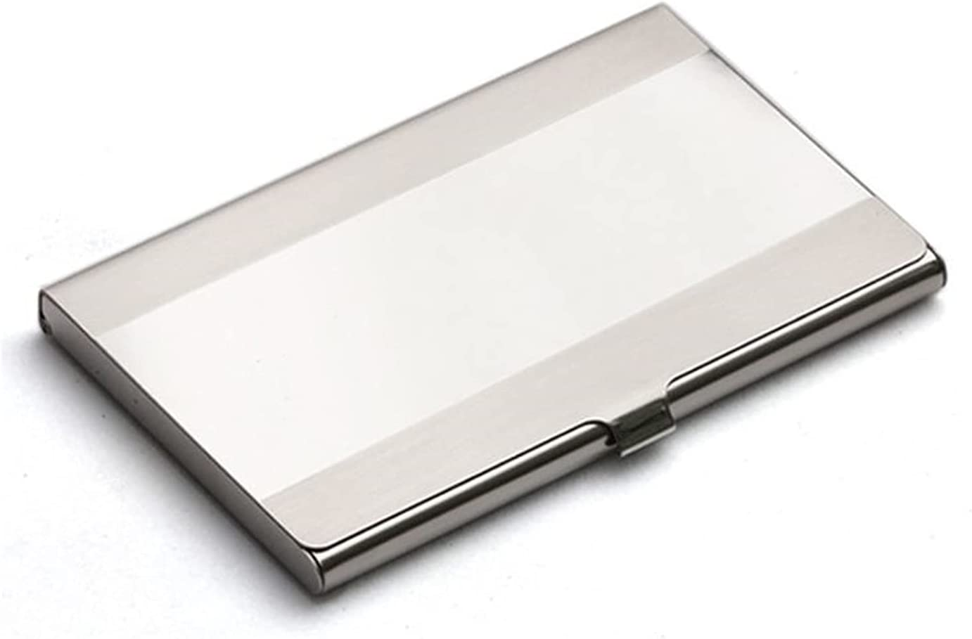 JKXWX Business Card Holder Luxury goods H Max 58% OFF Stainless Steel Metal