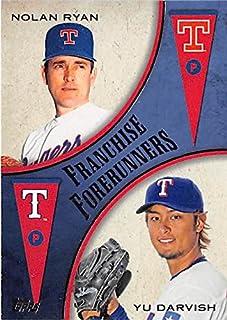 Yu Darvish Nolan Ryan baseball card (Texas Rangers) 2013 Topps #FF8 Franchise Forerunners Insert Edition