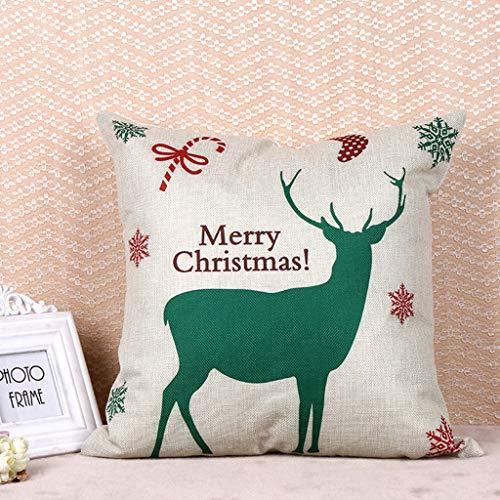 Weihnachts Explosionen Home Leinen Hug Kissen Kissen Setzen Kundenspezifische Außenhandel Cartoon Kissen Cover Tuch Set (45 * 45Cm),C