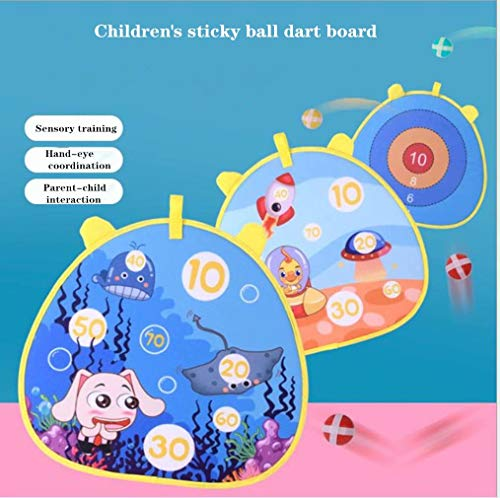 Children's stylish patterned cloth safety dart board game set with 6 stick ball balls family entertainment best toy gift boy and girl indoor and outdoor classic games