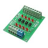 BliliDIY 5Pcs 12V A 3.3V Tablero De Aislamiento De Optoacoplador De 4 Canales Módulo Aislado Placa De Convertidor De Voltaje De Nivel De Señal PLC 4 bits
