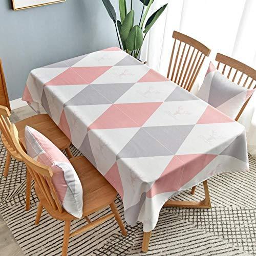 Geometrisch Bedrukt Tafelkleed Voor Eettafel Waterdichte Oliebestendige Tv-Kast Cover Cafe-Tafel Woondecoratie 140X210Cm