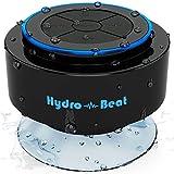 Tragbarer Lautsprecher - Hydro-Beat SIRI. Tragbarer, nach IP67 wasserfester Bluetooth Lautsprecher mit eingebautem Mikrofon und SIRI Funktion. Wiederaufladbar, mit 3,5mm Klinkenstecker zu USB. (Schwarz und blau)