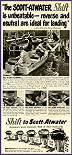 Great 1951 Scott-Atwater Shifting Outboard Motors AD Original Paper Ephemera Authentic Vintage Print Magazine Ad/Article