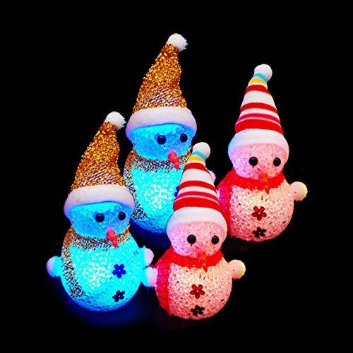 AIU Beleuchtung Schneemann, 4 Stück LED Snowman Weihnachtsfigur Weihnachtsbeleuchtung für Innen Außen Weihnachten Deko.