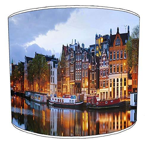 25cm stad van amsterdam lampekap7 Voor een plafondlamp