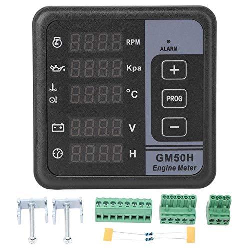 EVTSCAN, último motor, medidor digital, panel generador, medidor digital, multifuncional, medidor generador GM50HR para monitor de motor diésel