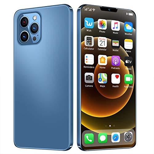 Teléfono Inteligente sin SIM, teléfonos Inteligentes Android de 6.6 Pulgadas, MTK6875 Deca Core, 8GB RAM + 128GB ROM, Tres cámaras traseras, teléfono Celular 4G / gsm Dual SIM