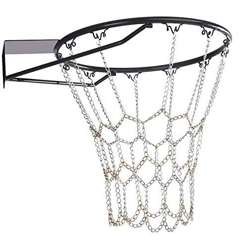 ZPFQFC Filet de Basket-Ball, chaîne en Acier galvanisé Robuste, écran Solaire à la Pluie, pour Professionnel intérieur et extérieur