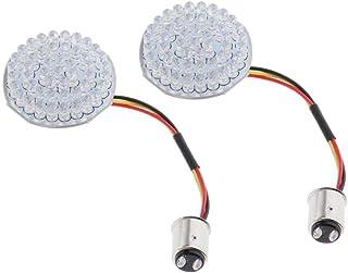 #N/A 2 peças de luzes de seta estilo bala, luzes de seta de LED de 5 cm, painel adequado para motocicletas Harleys, amarel...