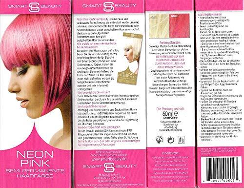 Smart Beauty Semi-permanente Haarfarbe Neonpink 3 x 50 ml