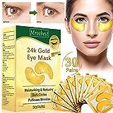 Augenpads,Eye Mask, 24k Gold Eye Patches, Anti aging Augenpads mit Hyaluron Augenpflege, Kollagen Augenmaske Feuchtigkeit spendende, entfernen Taschen, dunkle Kreise &...
