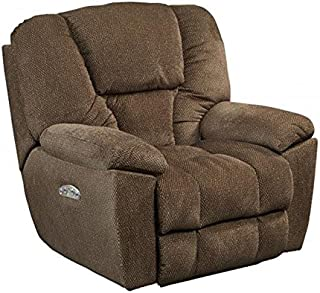 Catnapper Owens 764761-7 Power Full Lay Out Recliner Chair with Power Headrest and Lumbar Support - Hickory
