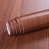 Livelynine 40CMX10M Vinilos Para Muebles Madera Oscura Vinilos Para Mesas Madera Vinilos para Muebles de Cocina Madera Vinilos Puertas Cocina Papel Vinilo Adhesivo para Encimera de Cocina Autoadhesivo