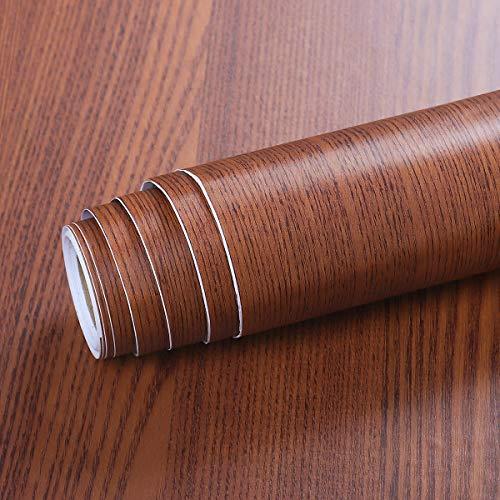 Livelynine Vinilo Madera Adhesivo para Muebles Oscura Vinilos Para Mesas Madera Vinilos para Muebles de Cocina Vinilos Puertas Cocina Papel Vinilo Adhesivo para Encimera de Cocina Autoadhesivo 40CMX2M