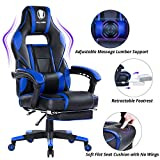 KILLABEE Massage Gaming Chair High Back PU Leather PC Racing Computer Desk Office
