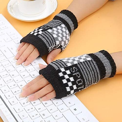 1Pair Spring Women Warmer Women Gloves Winter Fingerless Knit Mittens Button Gloves 2017 New - (Color: 4, Gloves Size: One Size)