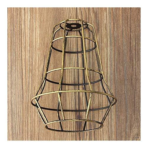 YUANYUAN520 Pantalla de lámpara Bombilla Colgante de Hierro protección de Alambre de colgado del Techo luminaria Holder Cafe Pantalla DIY Base de la lámpara (Body Color : Green)