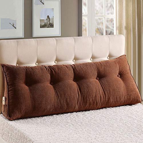 Kopfbrett Triangle Keilkissen Bett-Kopf-Rückenlendenkissen Kissen Sofa-Kissen-weiche Tasche mit Reißverschluss Waschbar, 10 Farben, 5 Größen Optional (Farbe: 4, Größe: 200 x 22 x 50 cm), Abmessungen: