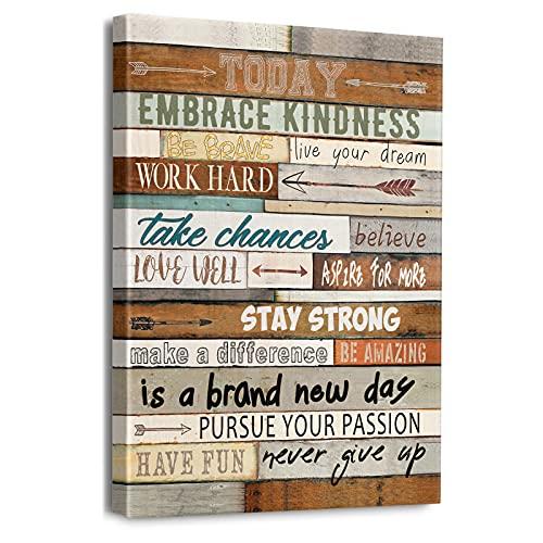 Inspirational Wall Art for Office Positive Quotes Wall Decor Motivational Canvas Wall Art Framed Prints Modern Artwork 12' x 16'
