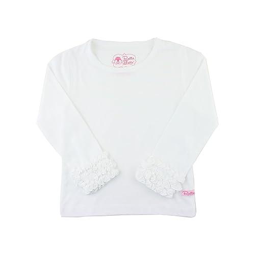 4a77dbcf4 RuffleButts Little Girls Undershirt - Extra Soft Long Sleeved Layering