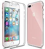 [WOEXET] iPhone 7 Plus ケース iPhone 8 Plus ケース TPU 極薄軽量 透明 滑り防止 指紋防止 ……
