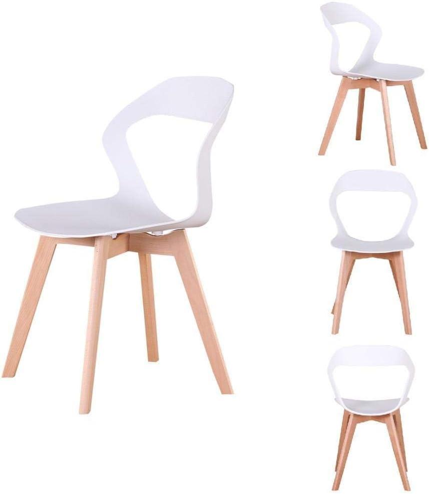 ZNYD Un Ensemble de 4 chaises minimalistes Modernes médiévales Nordiques avec des Pieds en Bois, adapté for Salon, Salle à Manger (Blanc/Noir/Brun) (Couleur : Rouge) Light Gray