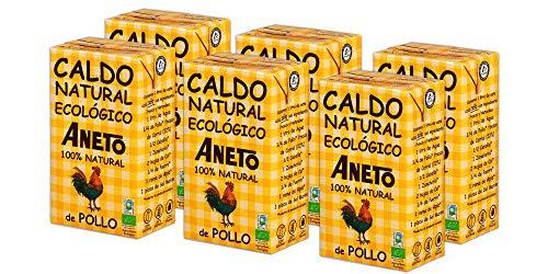 Aneto 100% Natural - Caldo de Pollo Ecológico - caja de 6 u