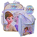 Personalized Licensed Disney's Frozen Character Backpack - 16 Inch (Personalized Frozen 2 Backpack with Bonus Lunch Tote, Water Bottle, Pencil Case, and Caribiner Clip)