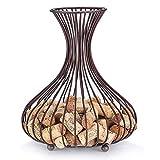 OwlGift Wine Cork Holder, Cork Storage Display Wine Stopper Table Cork Container Storage Organizer for Decoration – Bronze