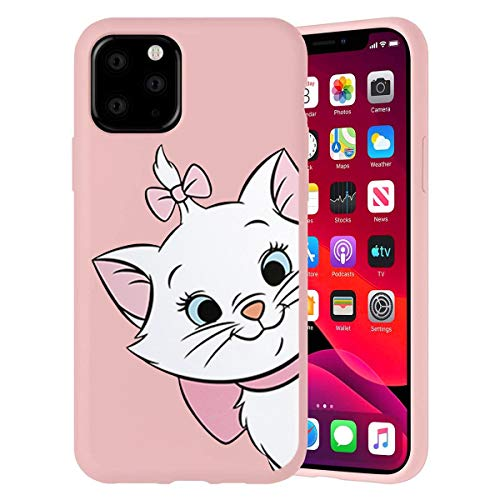 Pnakqil Funda iPhone 11 Pro MAX Carcasa Silicona Rosa Ultrafina y Ligero Flexible Soft Gel TPU Suave Case Anti Golpes Goma...