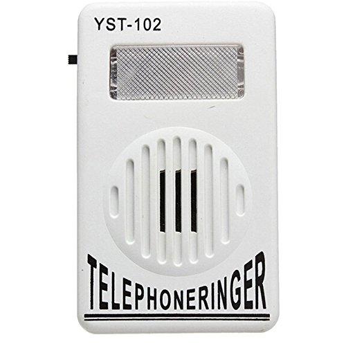 discoGoods 2 Pack Socket Loud Telephone Ring Speaker Bell Ringer and Ringtone Amplifier 95db Volume Enhancer for Landline Telephone With Flashing Light