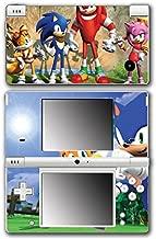 Sonic Boom Hedgehog Tails Amy Rose Knuckles Eggman Shattered Crystal Fire & Ice Robotnik Video Game Vinyl Decal Skin Sticker Cover for Nintendo DSi System