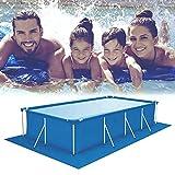 MEYENG Lona para piscina exterior rectangular, paño para suelo de piscina, lona de suelo para piscina, piscina fuera de tierra, alfombra fácil de limpiar, 500 x 300 cm