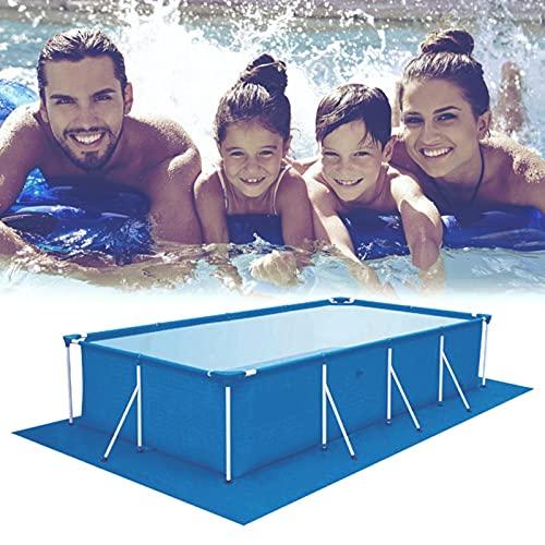 MEYENG Tapis de piscine rectangulaire, tissu pour sol de piscine, tapis de sol pour piscine, extérieur et terre, facile à nettoyer, 500 x 300 cm