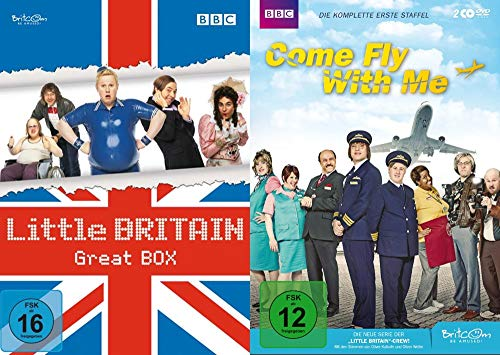 British Cult Comedy Collection LITTLE BRITAIN Great Box & COME FLY WITH ME Staffel 1 DVD Limited Edition