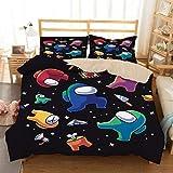 MYLZZ BT016 Among Us Game Juego de ropa de cama infantil, 135 x 200 cm (80 x 80), funda nórdica con fundas de almohada (6,220 x 240 cm (50 x 75))