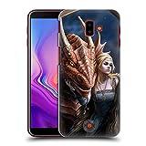 Head Case Designs Oficial Anne Stokes Amigo o Enemigo Dragon Amistad 2 Carcasa rígida Compatible con Samsung Galaxy J6 Plus (2018)