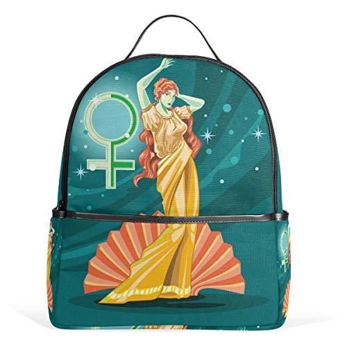 Rucksack für die griechische Göttin Aphrodite Schulranzen aus Segeltuch mit großer Kapazität, lässiger Reise-Tagesrucksack für Kinder, Mädchen, Jungen, Kinder, Studenten