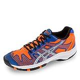 Asics Gel-Solution Speed 2 GS - Zapatillas para Deportes de Exterior de Material sintético para niño, Color - Blue/Flash Orange/Silver, tamaño 3,5b