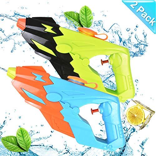 Sunshine smile 2 Pack Wasserpistole Set, Kinder Wasserpistole,wassergewehr für Erwachsene,Water Gun,Water Blaster,wasserpistole Spielzeug,Water Gun für Sommerpartys im Freien