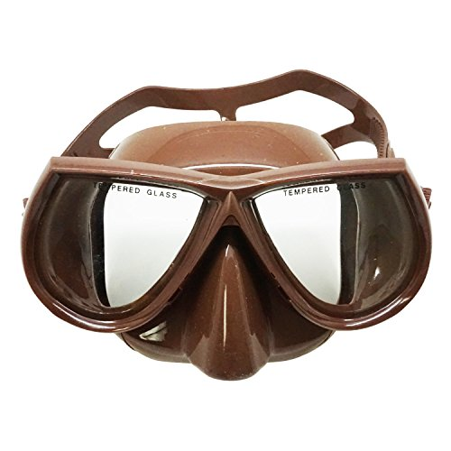 Palantic Spearfishing Free Dive Low Volume Brown Silicone Mask