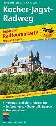 Kocher-Jagst-Radweg: Leporello Radtourenkarte mit Ausflugszielen, Einkehr- & Freizeittipps, wetterfest, reissfest, abwischbar, GPS-genau. 1:50000: ... (Leporello Radtourenkarte / LEP-RK)
