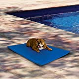 """K&H Pet Products Cool Bed III Cooling Dog Bed Medium Blue 22"""" x 32"""""""