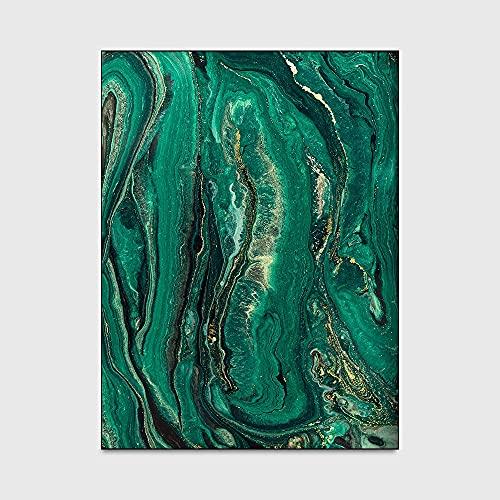 BZEAA Esmeralda Verde Grande Alfombra Sala De Estar Alfombra Dorado Patrón Antideslizante Planta Estera Dormitorio Alfombra 120x160cm Área Alfombra Grande (Color : 19858, Size : 80x120CM)